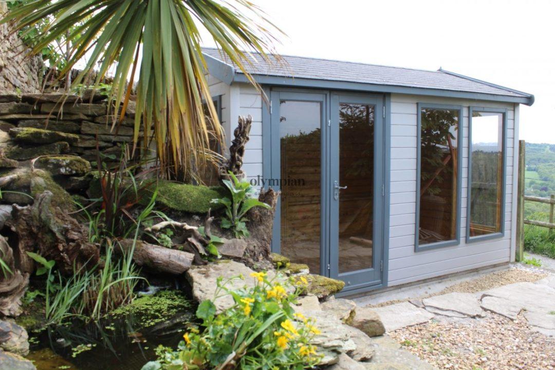 Cheshire Studio Multipurpose Garden Building Large Windows and double doors