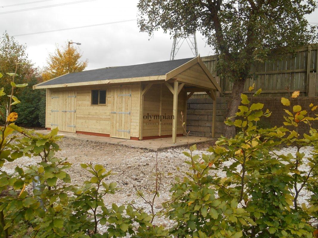 Combination Workshop Log Store in Nantwich