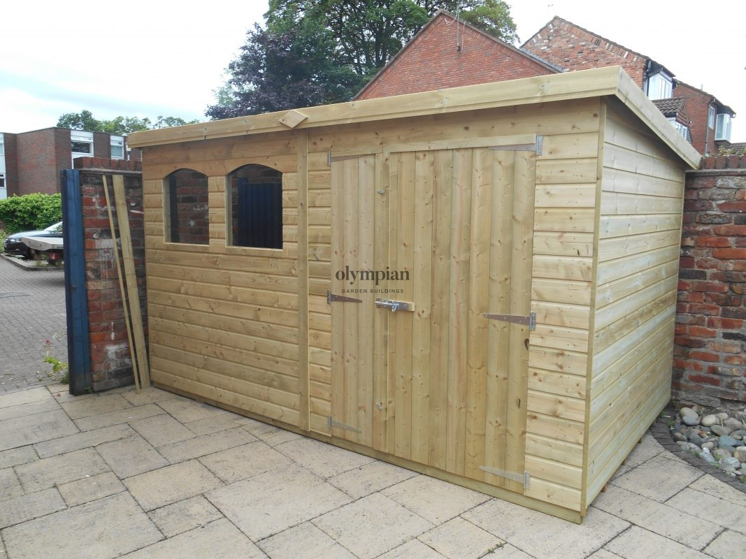 Large Pent Sheds made in Cheshire England