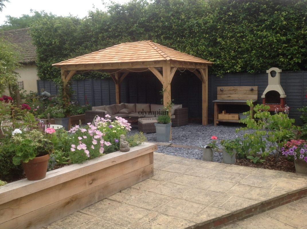 Oak Gazebos Bespoke Installed or Deliver Only