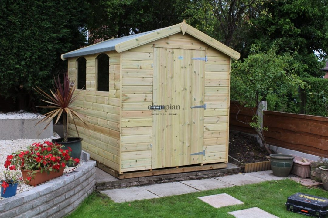 Standard size quality made in Cheshire garden shed