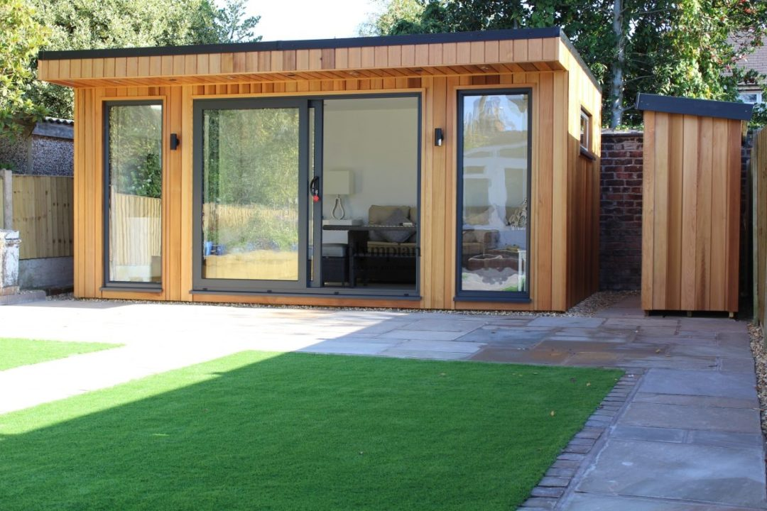 Contemporary Garden Room Cedar Modern Insulated Office Studio