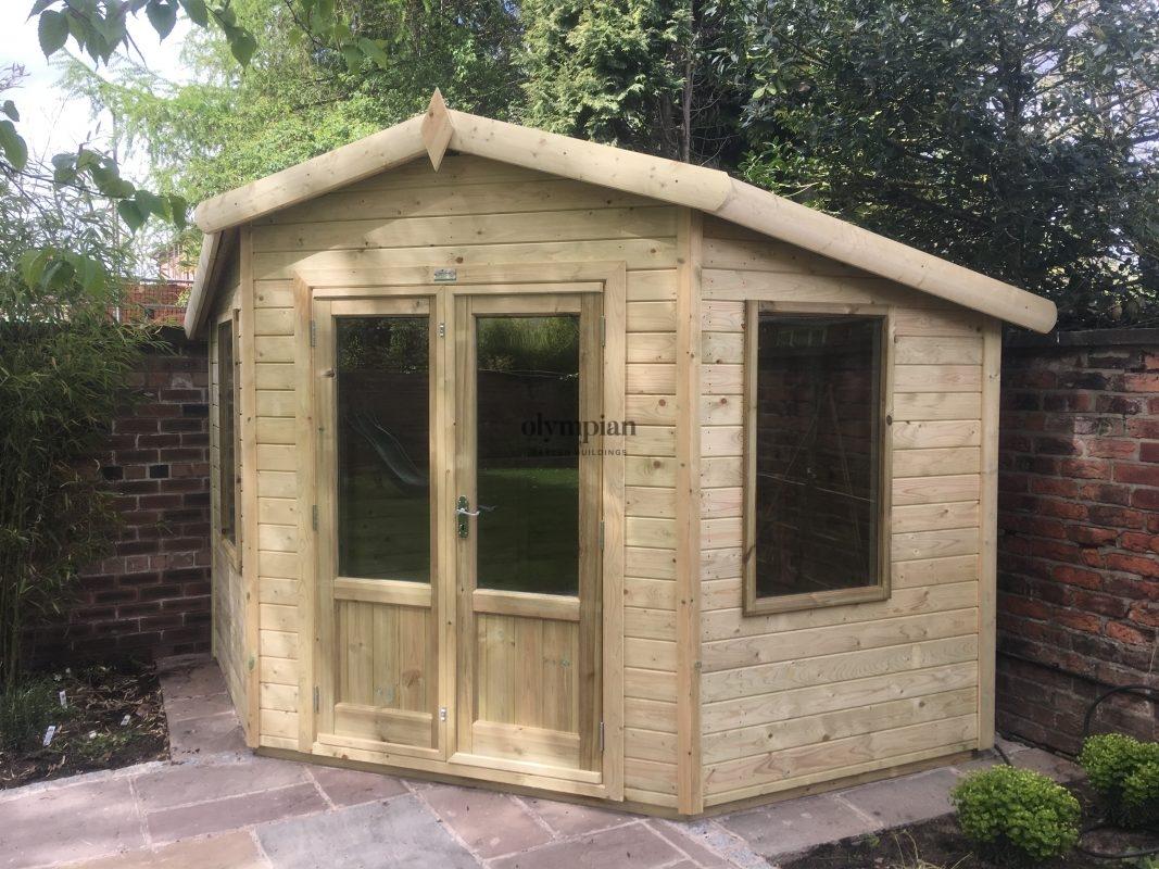 Modern corner summerhouse