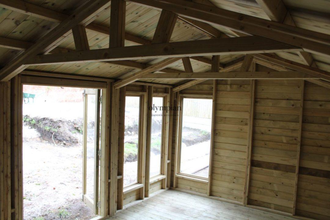 Inside of heavy duty summerhouse