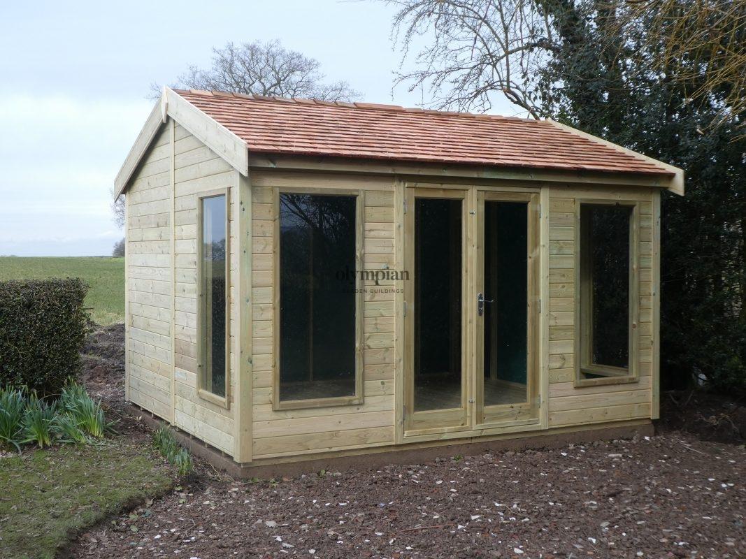 Modern Garden Studio with Cedar Shingles