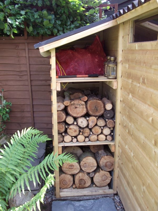 Combination Shed and Log Store 13