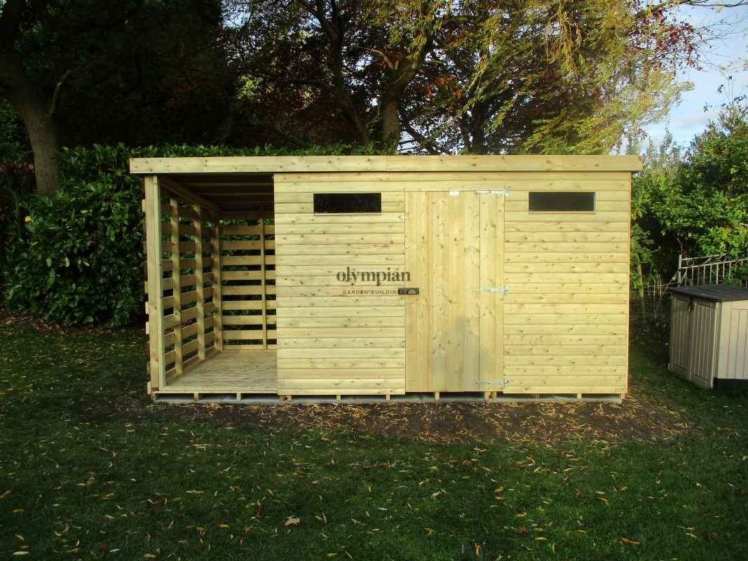 Combination Shed and Log Store 15