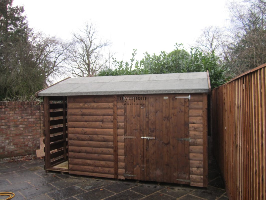 Combination Shed and Log Store 20