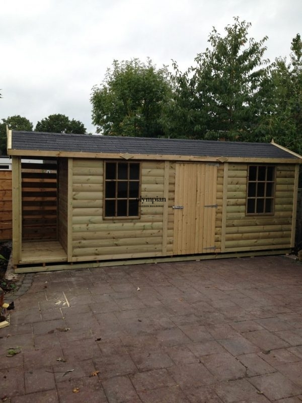 Combination Shed and Log Store 23