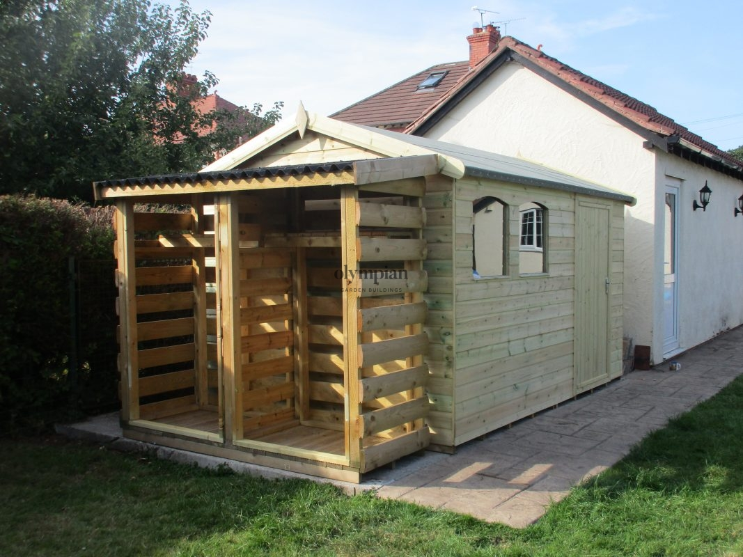 Combination Shed and Log Store 5
