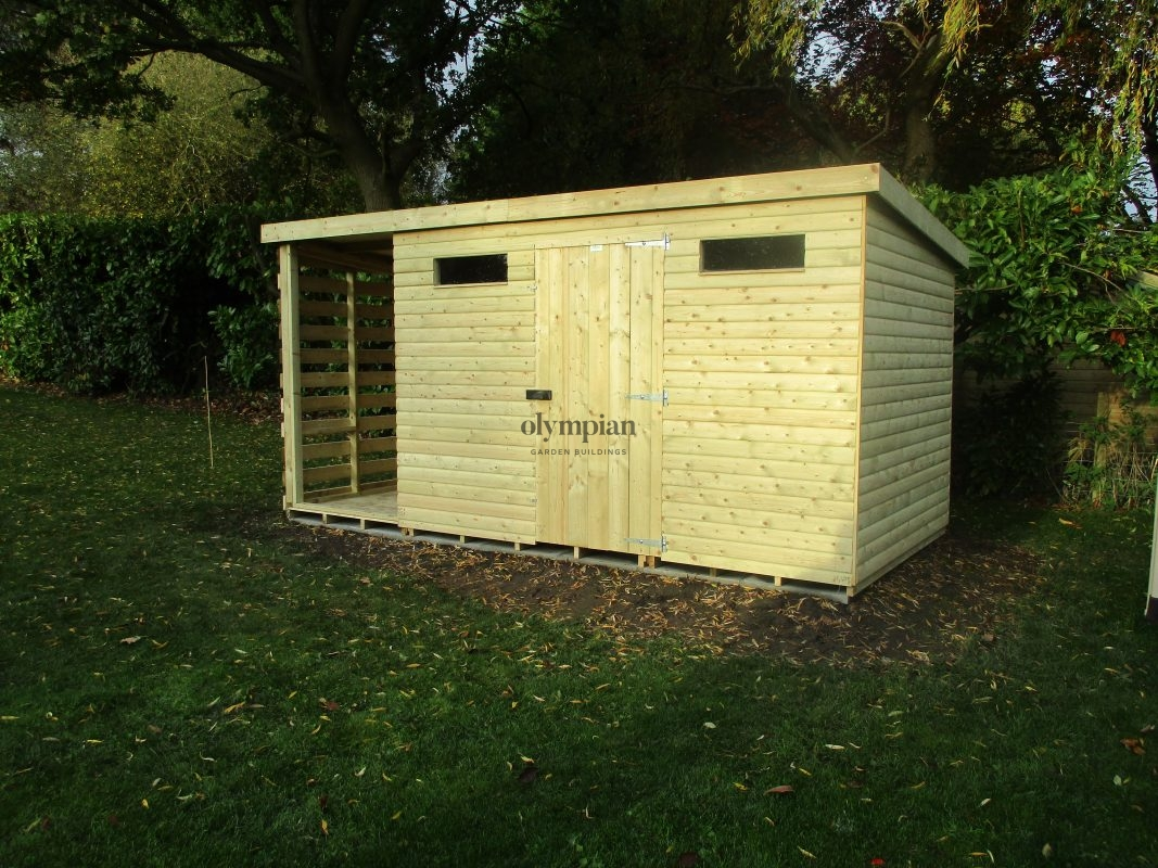 Combination Shed and Log Store 6