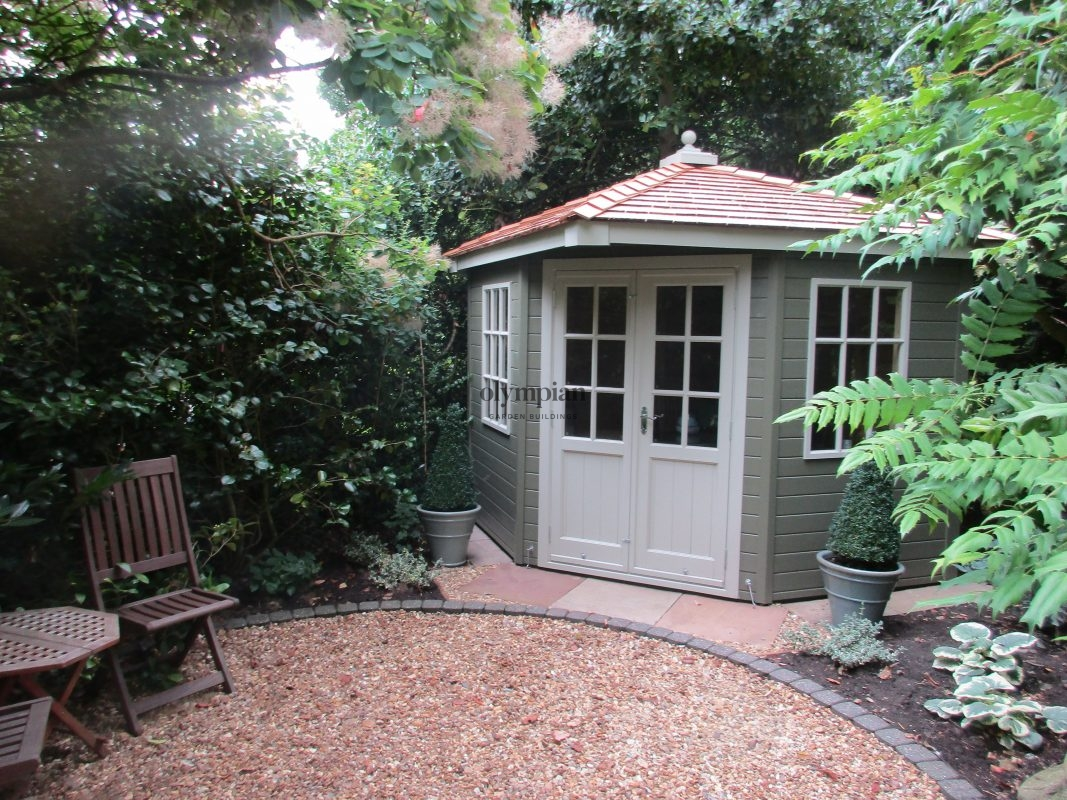 Corner Gawsworth summerhouse