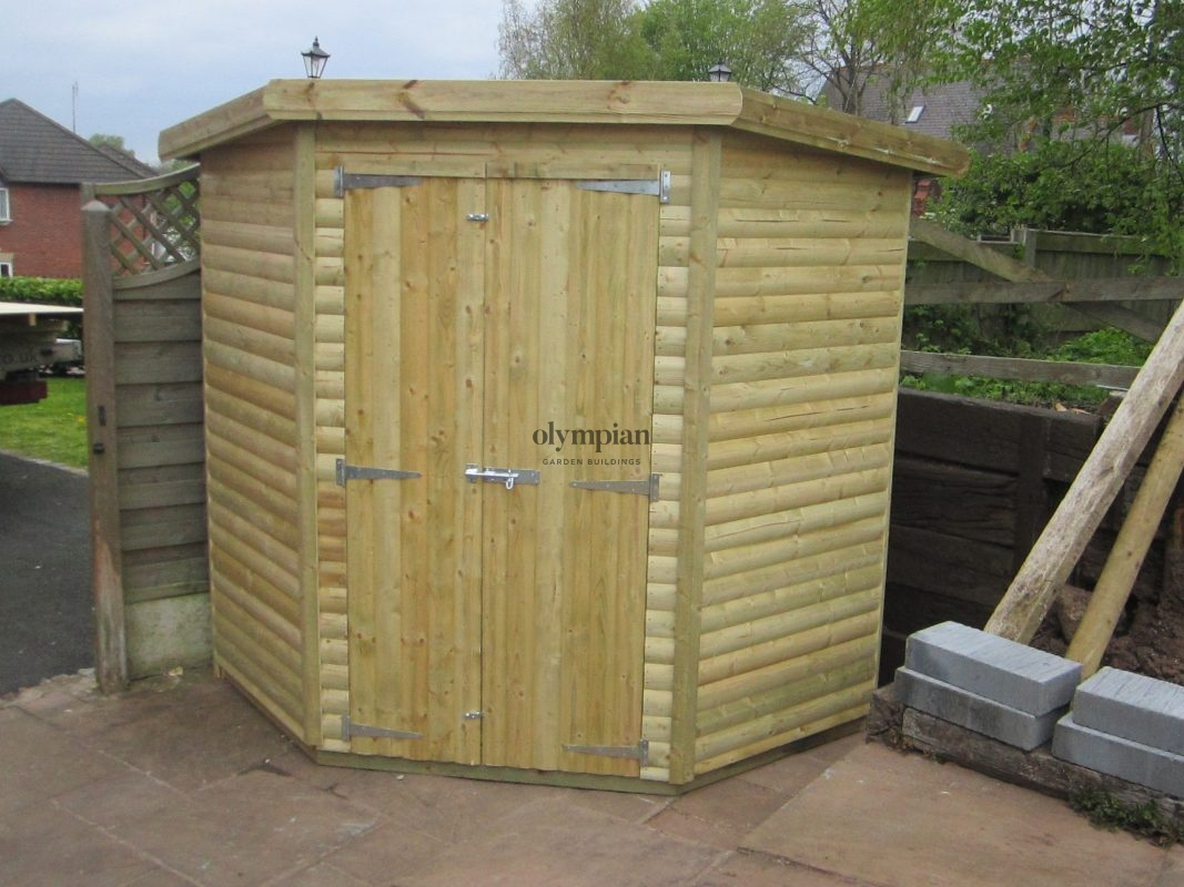 Pent Corner Shed Cheshire