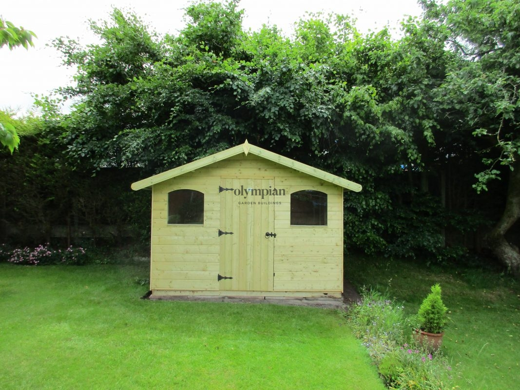 Chalet style shed workshop installed in Chester