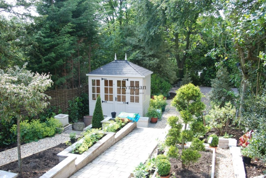 Hipped Roof summerhouse with felt shingle