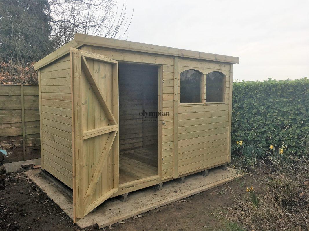 Heavy duty pent shed garden storage in Stoke on Trent