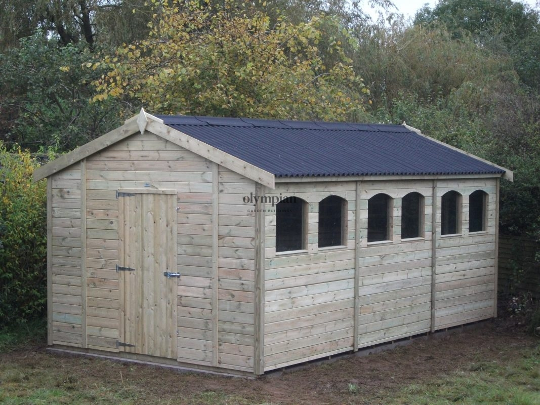 Large Apex Shed 10
