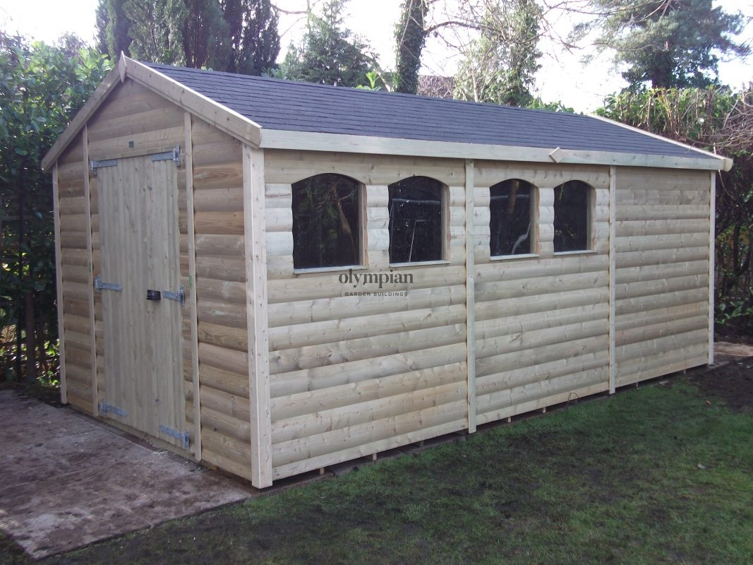 Large Apex Shed 12