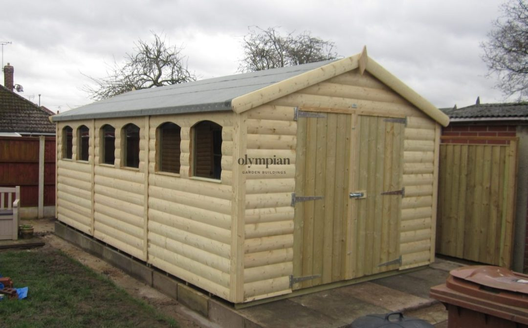 Large Apex Shed 1