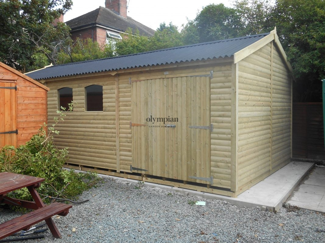 Large Apex Shed 19