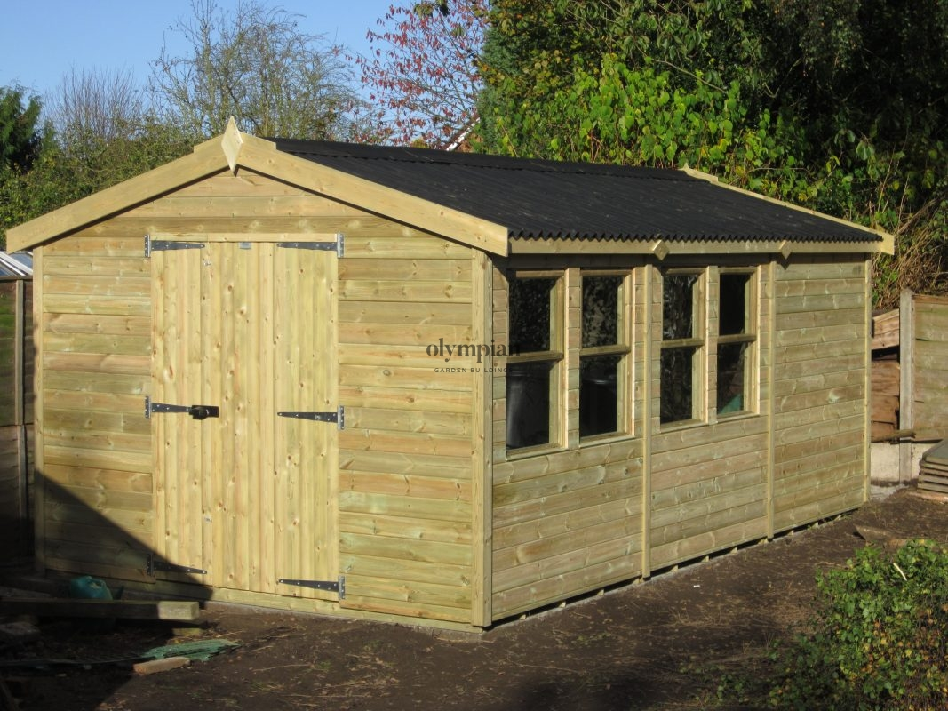 Large Apex Shed 44
