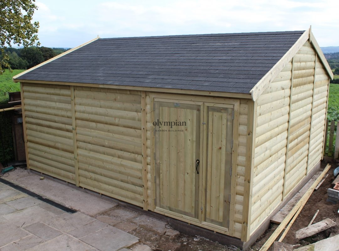 Large Apex Shed 45