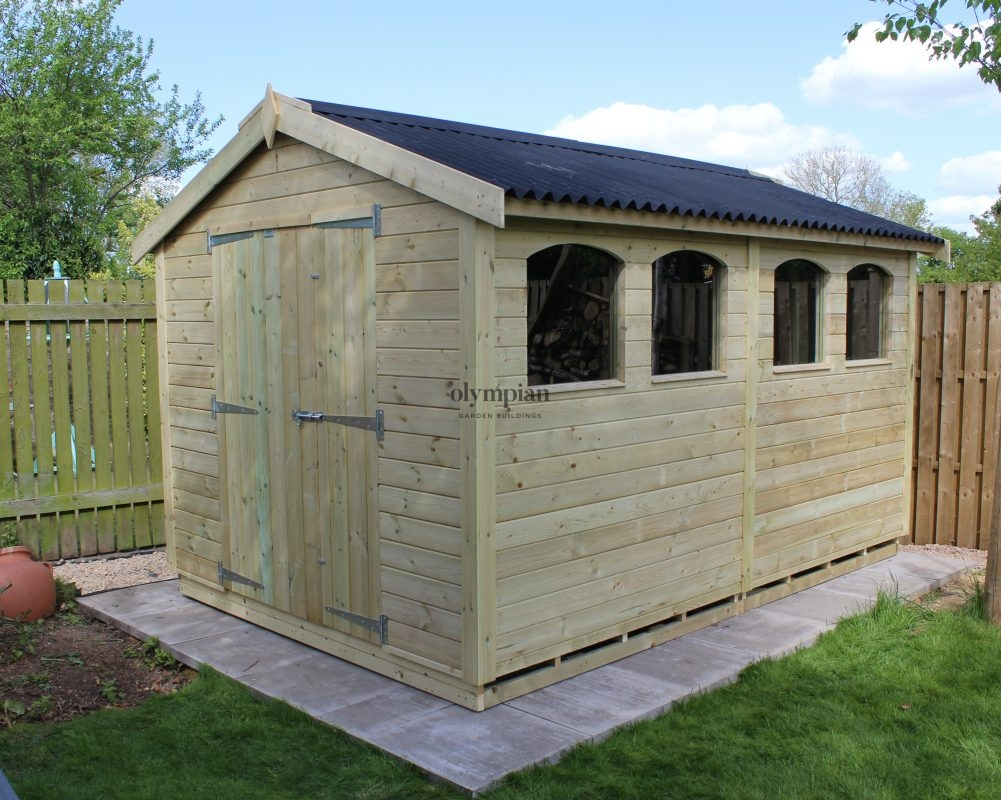 Large Apex Shed 77