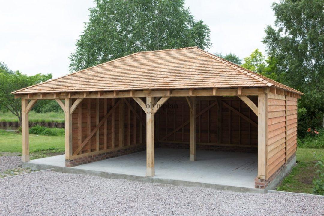 Oak Frame Garages Made to Measure Installed