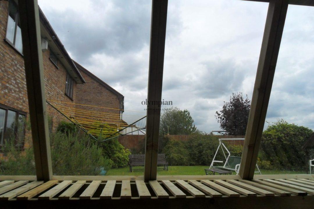 Internal view of potting bench