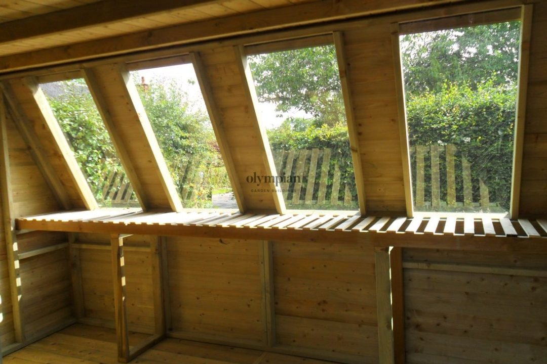 Internal view of Solar Potting Shed