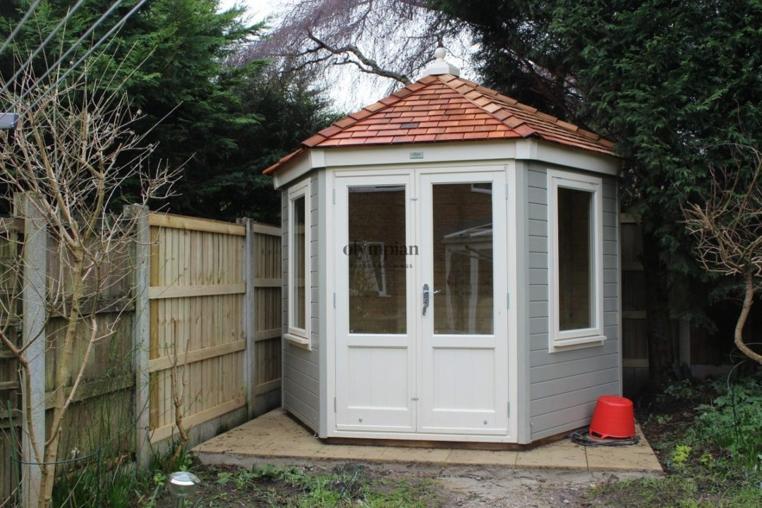 Hexagonal Summerhouse with studio upgrade