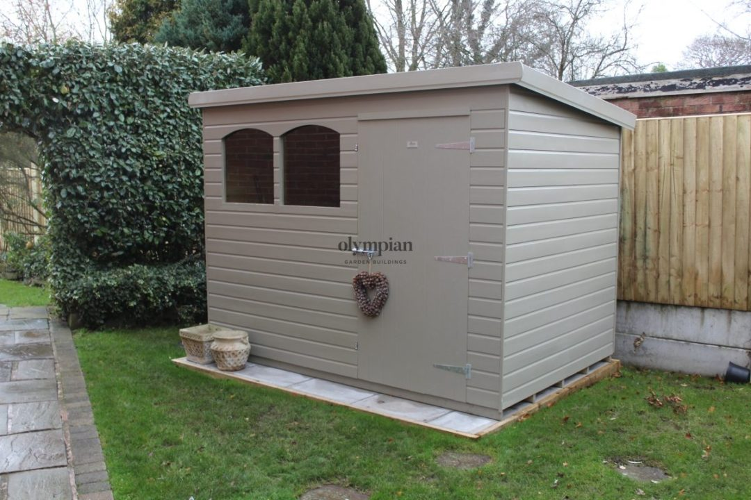 Pent Garden Shed Painted