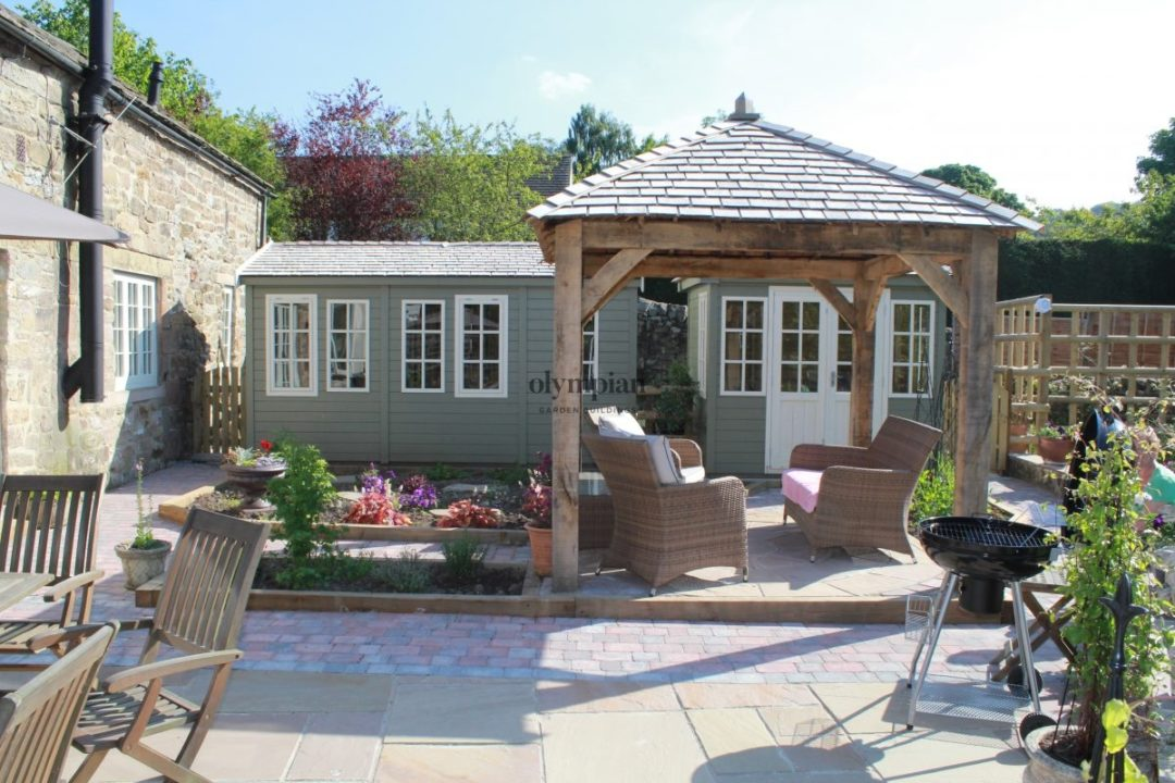 Full garden overhaul (Oak Gazebo and a Bespoke Building)