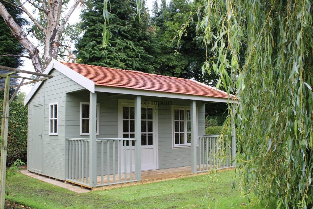 Garden building with Pavillion veranda