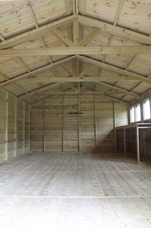 Inside Large Apex Shed