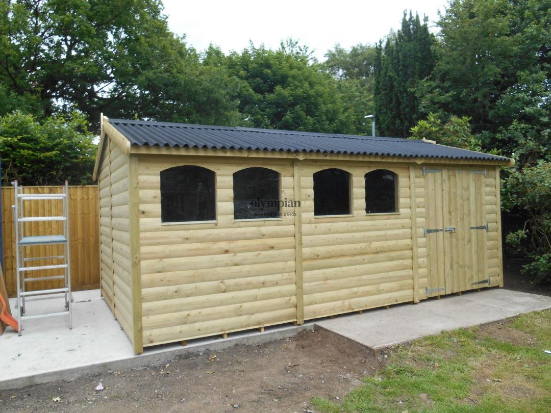 Heavy duty apex shed