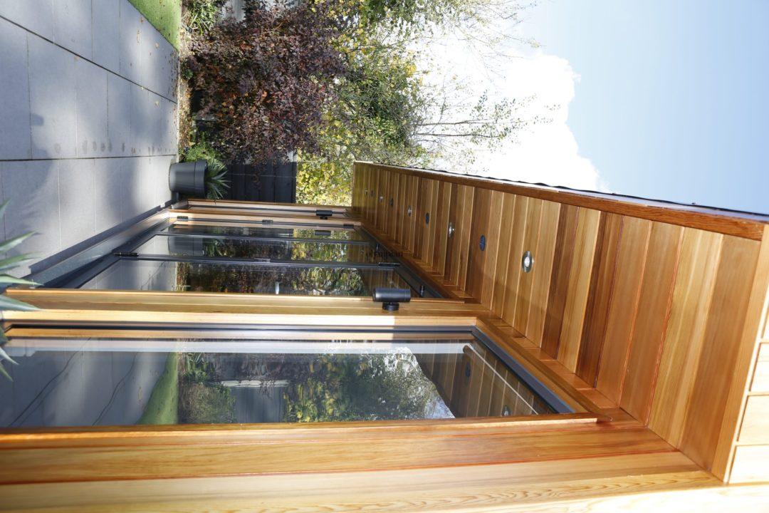 Cedar Contemporary Garden Room With Downlights